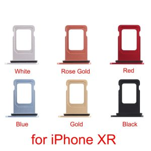 Plateau Double carte SIM pour iphone XR, 6 couleurs