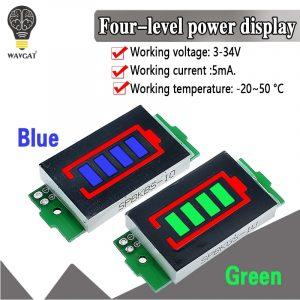 Testeur de batterie pour véhicule électrique li-ion, affichage de capacité en bleu, 1S-4S-8S, batterie en lithium simple 3,7 V, module 4,2 V,
