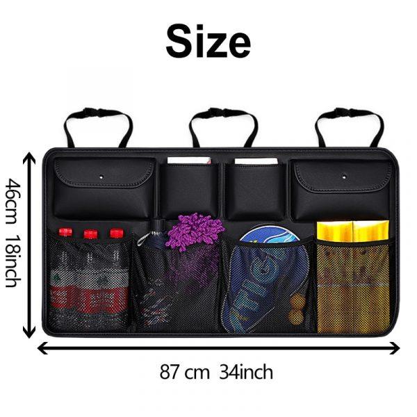 Car Trunk Organizer Backseat Storage Bag High Capacity Adjustable Auto Seat Back Oxford Cloth Organizers Universal Multi-use