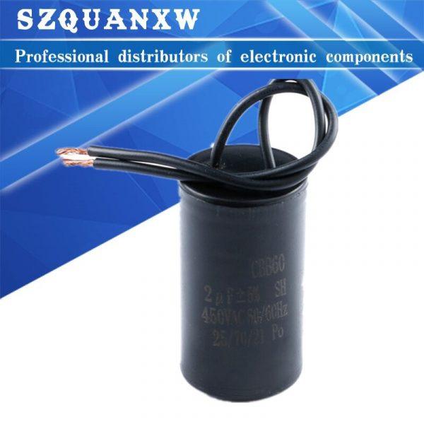 Condensateurs de fonctionnement du moteur CBB60 450V pour lave-linge, condensateur de démarrage 5% 2/4/5/6/8/10/12/14/15/16/18/20/25/30/40/45/70/80 UF,