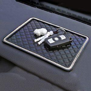 18*14cm Anti Slip Mat Crystal Rhinestone Automobile Silicone Non-Slip Mat Pad Car Sticky for GPS Phone Car Interior Accessories