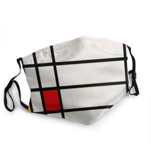 Piet Mondrian Trafalgar Square Mouth Face Mask Washable De Stijl Abstract Art Mask Anti Dust Protection Respirator Mouth-Muffle