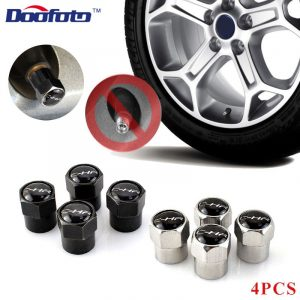 Doofoto Car Wheel Valve Caps Vehicle Tire Tyre Stem Cover For Toyota C-HR CHR 2016 2018 2019 Accessories Styling Protective Case