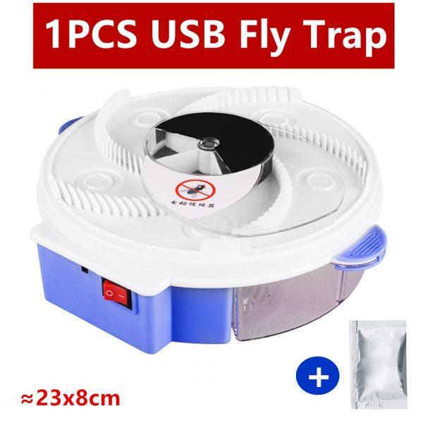 Piège à mouches électrique, Version améliorée, chargement par câble USB, dispositif de capture automatique des parasites, dispositif de contrôle des résidus d'insectes
