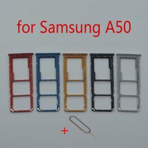 Support de carte SIM pour Samsung Galaxy A50 A505F A505FM A505FN, nouveau téléphone d'origine, fente pour carte Micro SD, adaptateur, pièces de réparation