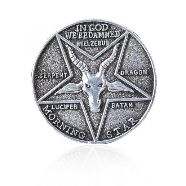 Pièce de monnaie commémorative de Cosplay, série télévisée Lucifer Morningstar, pentagonale, accessoires en métal pour Halloween