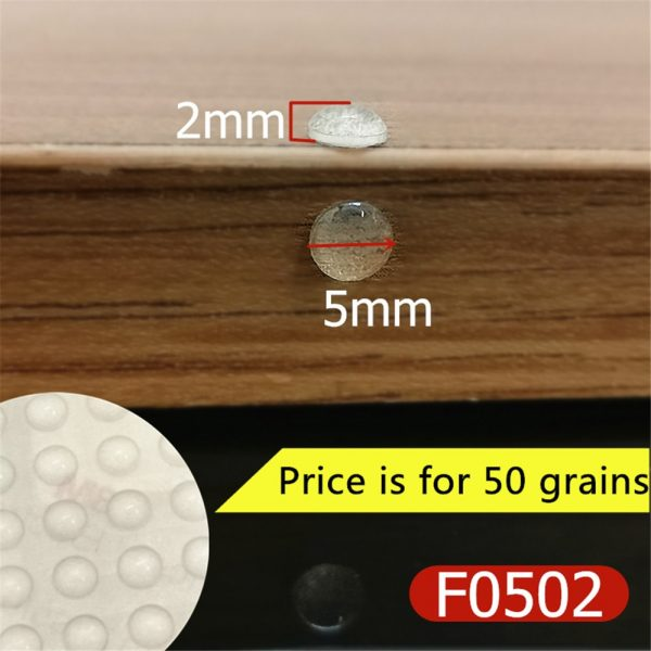 Door Stops Self adhesive Silicone Pads Cabinet Door Bumpers Rubber Damper Buffer Cushion Prevent Noisy Furniture Hardware