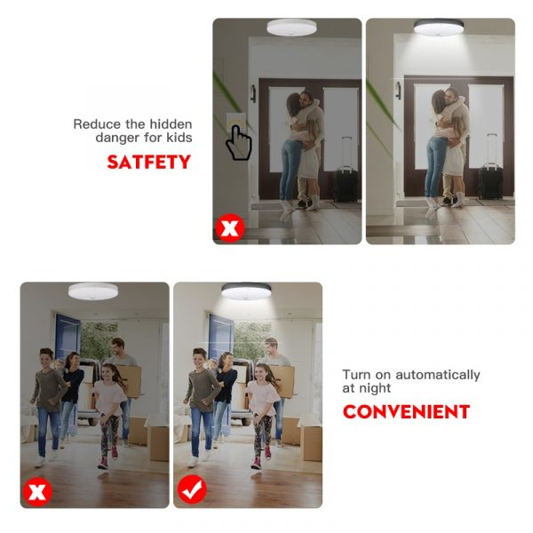 Lamp with Motion Sensor Ceiling Lights PIR LED Night Light 110V 12W 18W 15/20/30/40W Wall Lamps for Home Stair Hallways Corridor