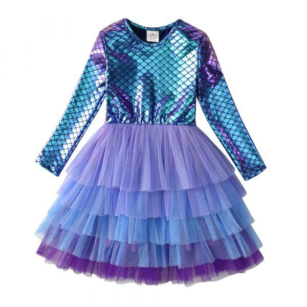 VIKITA – Robe tutu de princesse pour petite fille, costume de fête d'anniversaire, noël, mariage, automne