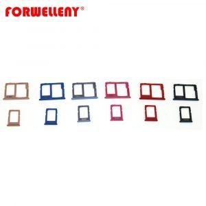 Porte-carte Micro Sim, adaptateur de plateau à fente, noir, gris, or, bleu, violet, pour SAMSUNG Galaxy J4 J6 J8 Plus J415 J610 J810