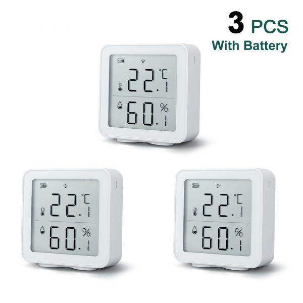 Awaywar Tuya WIFI Temperature and Humidity Sensor Indoor Hygrometer Thermometer Detector Support Alexa Google Home smart life
