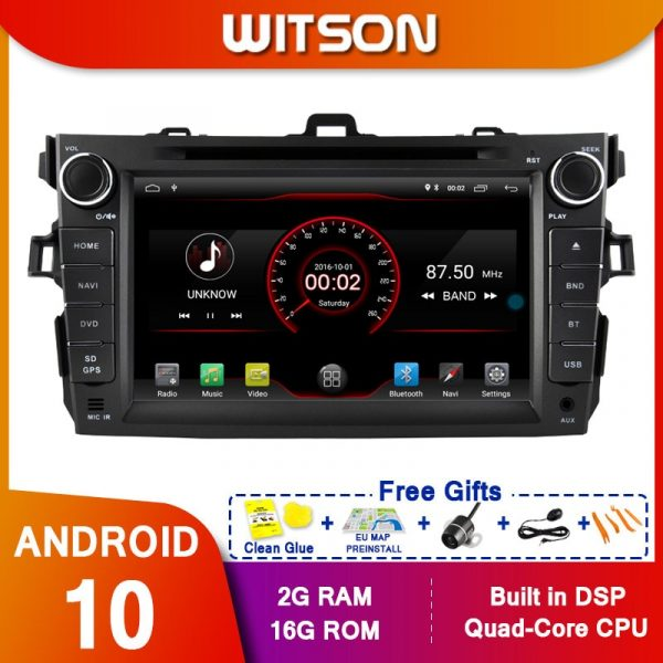 WITSON Android10 For TOYOTA COROLLA(2007-2012) Multimedia Stereo Car DVD Player Navigation GPS Radio