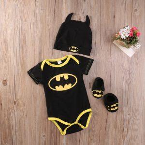 Ensemble 3 pièces pour bébés garçons, barboteuse, combinaison + chaussures + chapeau, vêtements pour nouveau-nés et tout-petits de 0 à 24 mois
