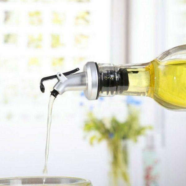 Bouchon de verrouillage en caoutchouc d'huile, joint étanche, buse en plastique de qualité alimentaire pulvérisateur distributeur de liqueur, verseurs de vin outils de Bar