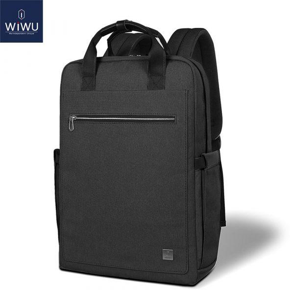 WIWU Fashion Laptop Backpack 15.6 16 Large Capacity School Backpacks Nylon Laptop Bag 15.6 inch Women Male Lightweight Backpack