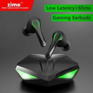 Zime – écouteurs sans fil Bluetooth TWS, oreillettes de jeu, faible latence 65ms, avec micro, son basse, positionnement, PUBG