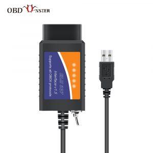 ELM327 OBD2 Scanner elm 327 USB v1.5 Bluetooth Code Reader Auto Diagnostic Scanner Tool Made for Forscan Automotive