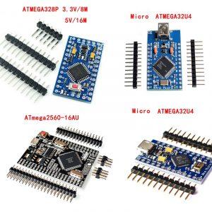 Carte de développement Pro Mini ATmega328 ATmega168 Pro Micro Mega2560 CH340G 5V 16MHz pour Arduino, avec tête de broche