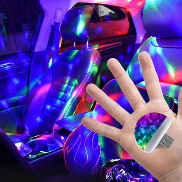 2021 NEW Multi Color USB LED Car Interior Lighting Kit Atmosphere Light Neon Colorful Lamps Interesting Portable Accessories