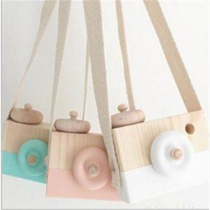 Appareil photo en bois pour enfants 10x8x5.5Cm, jouet suspendu nordique mignon, Articles de décoration de salle cadeau, ameublement
