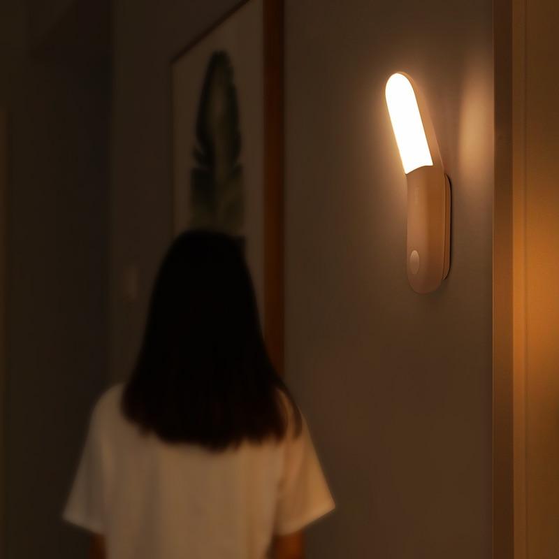 Baseus Under Cabinet Light PIR LED Motion Sensor Light Rechargeable Night Light LED Lamp For Wardrobe Kitchen Bedroom Closet