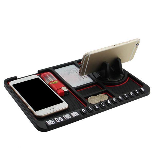 Anti-slip Multifunctional Car Dashboard Mat Keys Cell Phone Stand Holder Pad Противоскользящий коврик для приборной панели