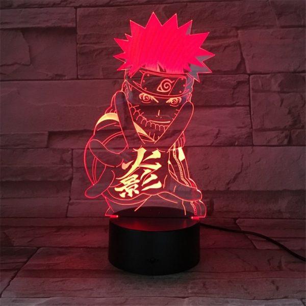 Lampe de chevet 3D, Figurine de Naruto, Anime Uzumaki, veilleuse multicolore pour enfants, lampe de Table, décoration de maison