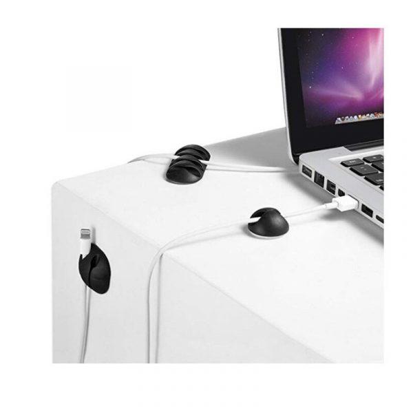 Enrouleur de câble en silicone 2020, organisateur de câbles d'écouteurs, rangement de fils