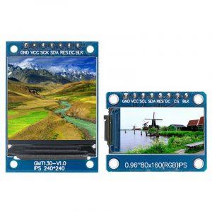 Module LCD couleur avec lecteur de circuit imprimé pour Arduino, écran TFT 0.96 / 1.3 1.44 pouces IPS 7P SPI HD 65K, ST7735, produit non OLED mesurant 80 x 160, IC,
