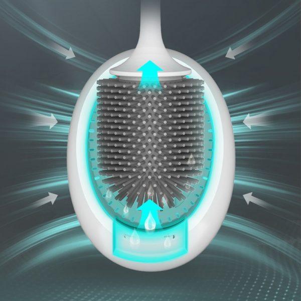 GURET – brosse de toilette en Silicone pour WC, outils de nettoyage muraux, accessoires de salle de bain à domicile