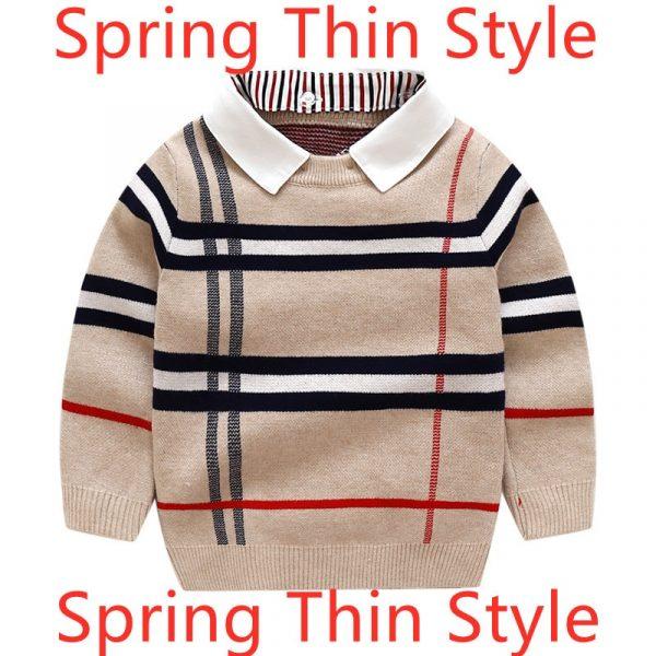Pull chaud à manches longues pour enfants, vêtements pour garçons et filles, pull uni à la mode, en tricot, collection printemps et hiver, 1-8T