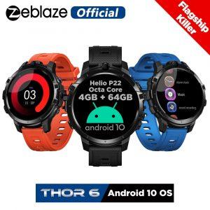 Montre connectée Zeblaze THOR 6, bracelet électronique, 4 go + 64 go, Android 10, OS, 4G, version globale, nouveau, 2020