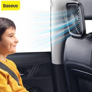 Baseus Car Back Seat Mini USB Foldable Silent Fan Cooler Portable Air Cooling Fan Use Desktop Office Fan Three Grade Wind Speed