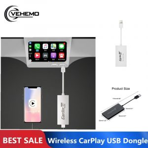 Carlinkit CarPlay Dongle Bluetooth For Apple IOS Android Auto MP5 Player Wireless MINI USB Black Supports Smart Link