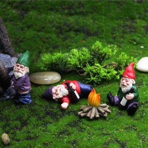 Mini Pot de fleur artisanal en résine mousse, Micro décoration de paysage en plein air, fée Miniature naine, ornements de jardin, accessoires elfe