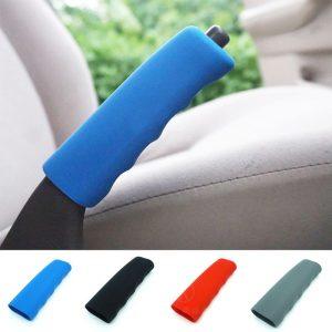 Hand Brake Set Universal Car Handbrake Sleeve Silicone Gel Cover Anti-Skid Auto Parking Brake