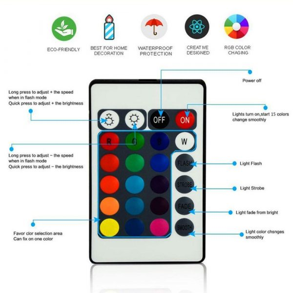 Acrylic 3D LED Lamp Base Table Night Light Base LED 7 Color-Adjust ABS USB Remote Control Lighting Accessories Bulk Wholesale