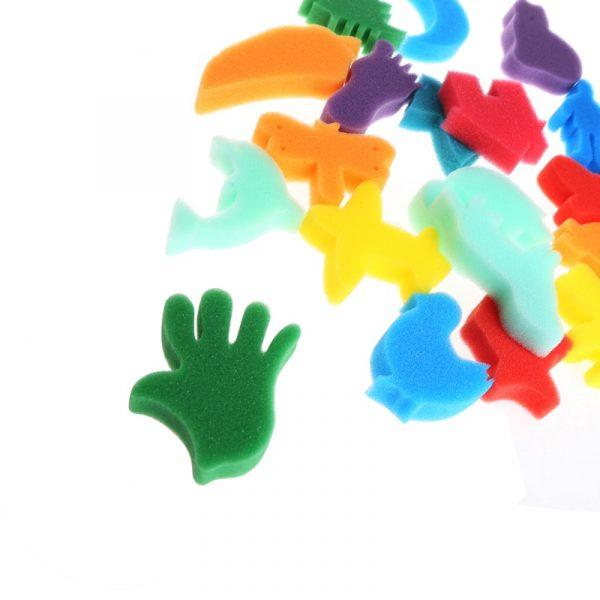Set d'éponges à peintures pour enfants, 24 pièces, lot de bricolage et d'artisanat artistique fait maison, jouets éducatifs,