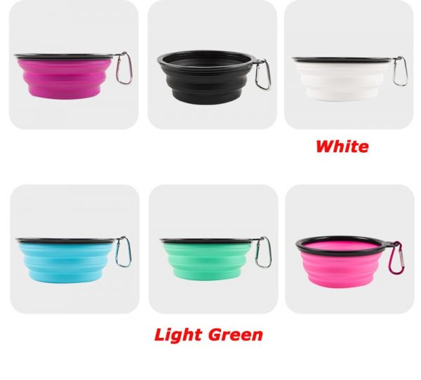 1000ml Large Collapsible Dog Pet Folding Silicone Bowl Outdoor Travel Portable Puppy Food Container Feeder Dish Bowl