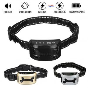 Intelligent Dog Anti Bark Collar Ultrasonic Rechargeable Training Collars Waterproof Vibration Dog Stop Barking Control Bark Col