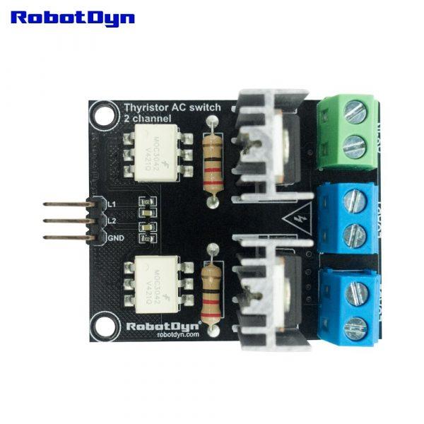 Ssr-commutateur ca de relais à semi-conducteurs pour microcontrôleurs, logique à 2 canaux, 3.3V ~ 12V, AC 220V/110V, 5A